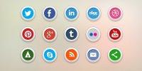 15 бесплатных социальных иконок (PSD и PNG)